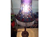 Lamp Tiffany Lamp Purple Stunning Very Old