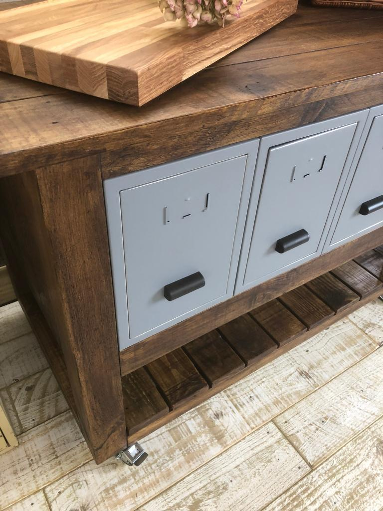 Handmade industrial style kitchen trolley island with storage | in ...