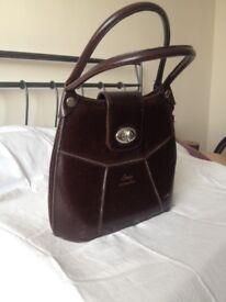 Brown leather Long International handbag