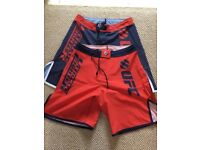 2 UFC shorts, brand new, blue, red