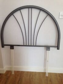 Free Grey metal headboard