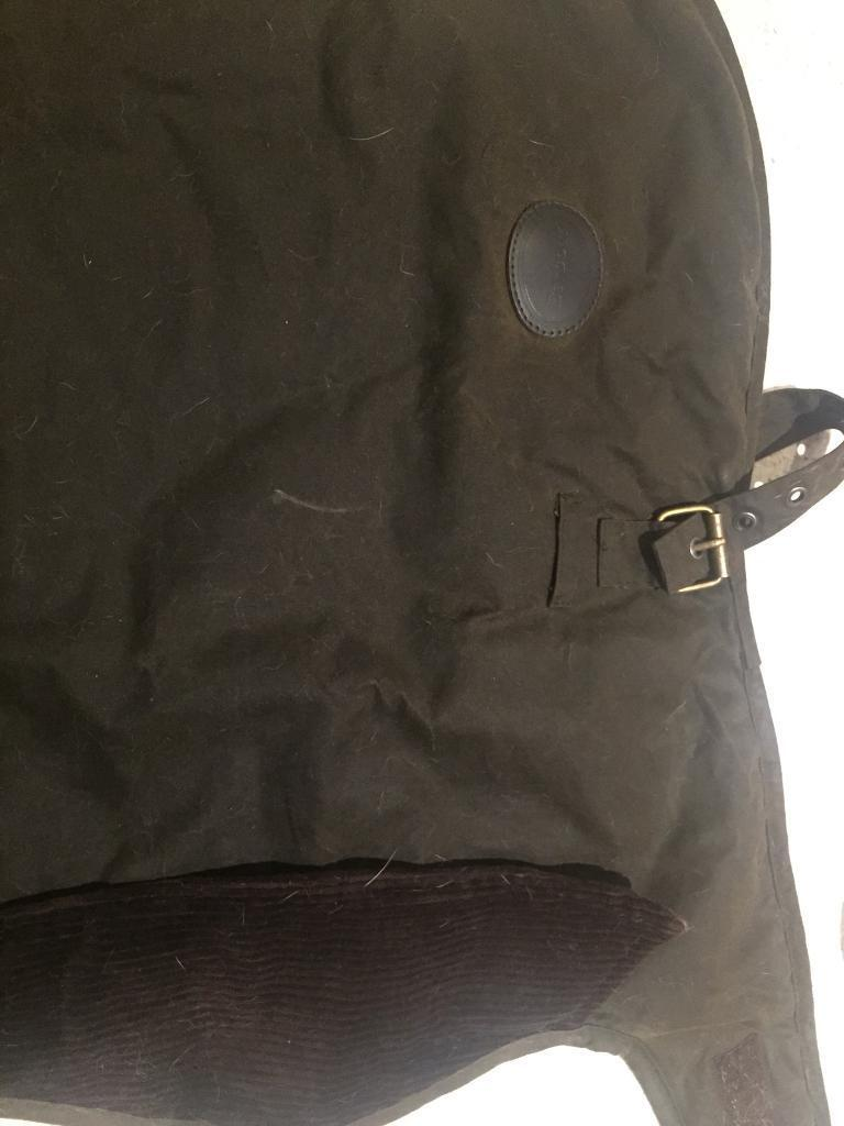 BARBOUR DOG COAT WAX (Olive) size small