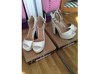 3 Pair Ladies Shoes - size 7 - £5 each