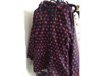 Rain Jacket polka dots blue and red Vintage Luxury Coat