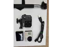Gopro hero 3+ with display and accessories