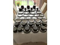 Hornsea contrast tableware. 51 pieces in total.