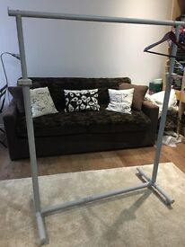 Light grey Clothing rack with wheel