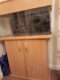 Fish tank in cabinet
