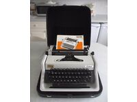 Erika 115 Typewriter Vintage 1980 Manual Portable Made in GDR Germany - Faulty