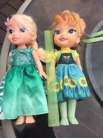 frozen dolls x 4 summer and original elsa & anna