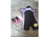 Baby / Toddler Wet Suit & Shoes Size Small / Age 1-2