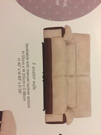 Harvey's 2+3 ( recliner) +footstool (with storage)