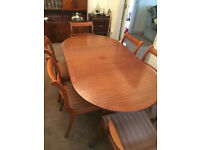 Extendable Dining Table & 6 Chairs (Price REDUCED)