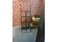 Early 20th century industrial cast iron sack truck