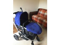 Travel System Pushchair Blue with Car Seat Baby