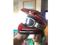 Motor cross helmet wit O'Neil goggles