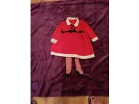 Baby girls mrs clause outfit age 12-18months