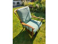 Ercol style cottage stickback armchair