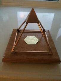 Copper pyramid. Crystal, healing ,energy enhancing device