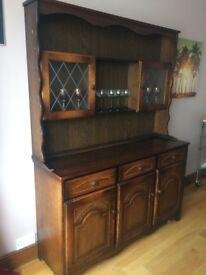 Living room vintage furniture, side unit, corner unit, drinks unit, television unit.