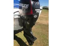 Warrior 165 with evinrude etec 75 hp outboard with only 10 hrs usage!!