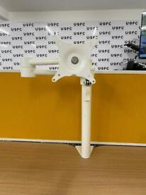 Single Monitor Arm in White or Silver