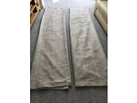 Beige print curtains (Dunelm)