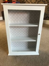 Small white wooden display unit