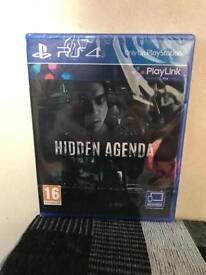 PS4 Hidden Agenda Game Brand New & Sealed