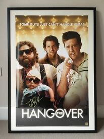 The Hangover - SIGNED MOVIE POSTER - Signed by 5 - Bradley Cooper, Zach Galifianakis, Ed Helms...