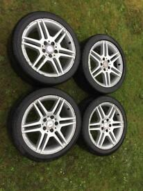 "Mercedes 17"" alloy wheels £150"