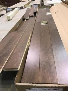 Plancher de bois franc merisier capuccino 2.75$/pc