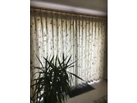 Modern patterned curtains. Pinch pleat. Fit 2.8 - 3.0m pole. Length 2.15m