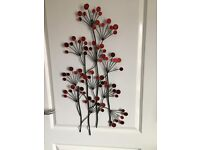 Red wall hanging decor
