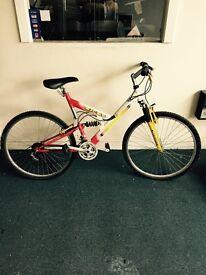 Mountain bike full suspension twist gears £45
