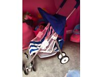 Toy Mac stroller with matching bag
