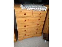 Bedside Cabinet and Chest Drawers