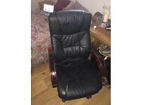 Leather Desk Chair - very comfortable! £15