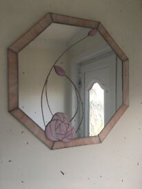 Beautiful mirror, slight mark but does not take away from the look of the mirror.