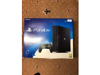 PS4 pro 1TB (PlayStation 4 pro 1TB with one game boxed