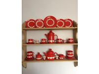 Beautiful red heart Waechtersbach tea/ coffe set
