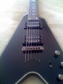 2009 Schecter Flying V 1 Blackjack Diamond Series Electric Guitar with Seymour Duncan pickups
