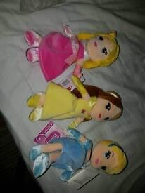 disney princess dolls £4 each new