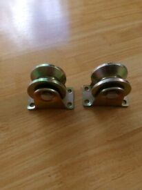 pair of heavy duty gate rollers