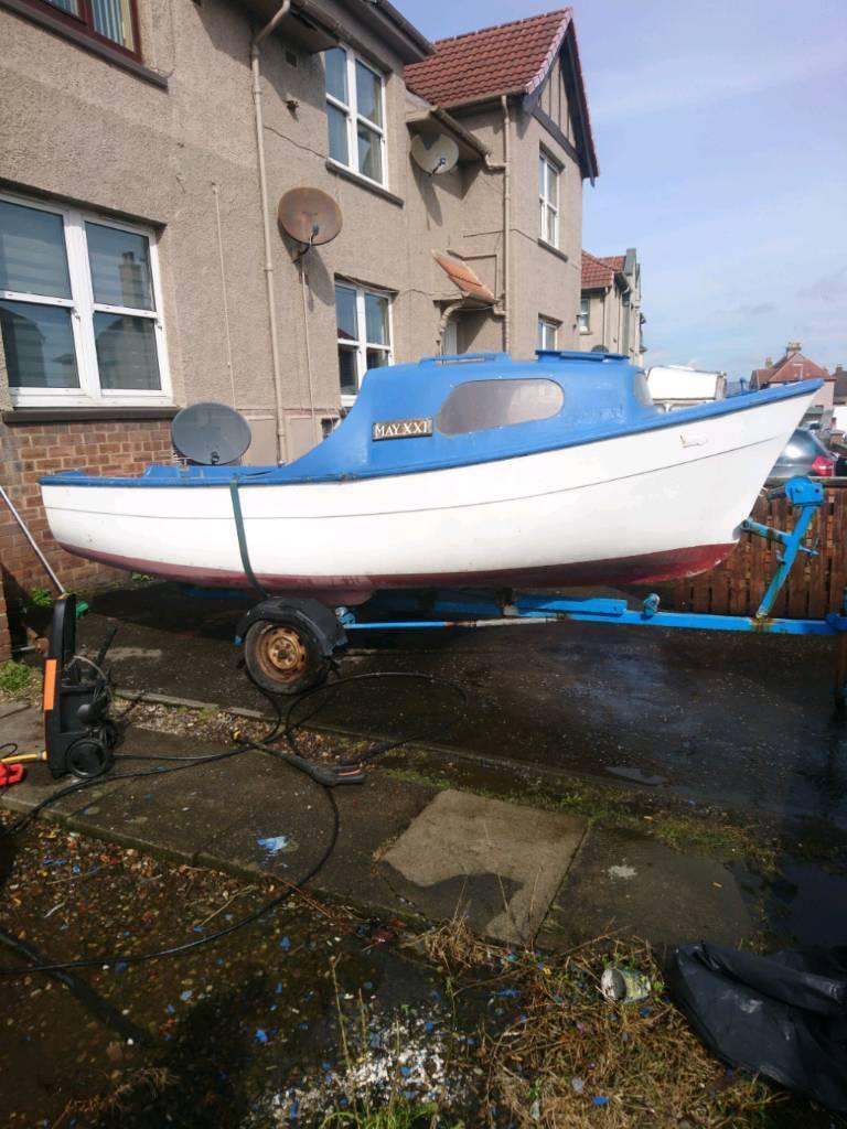15.5ft boat 15hp yamaha engine