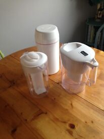 3 piece set: Brita water filter, fruit-infuser jug, Easiyo yogurt maker
