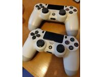 Pair of PS4 dual shock controllers (not official) NO OFFERS