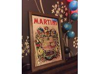 Small vintage Martini picture mirror