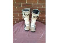Motocross boots x 2, Fly racing 805 & TCX Space size 10 and Trials Fox Comp 5 boots size 11 & Gaerne