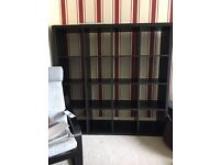 Dark Brown Ikea Kallax Bookshelf